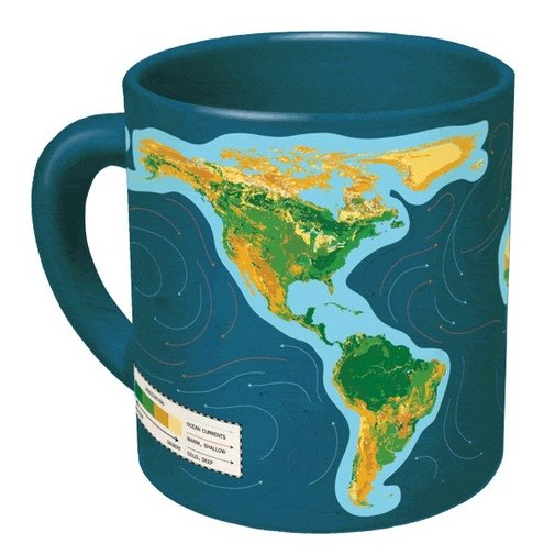 Climate Change Mug - Ceramic Coffee Mug Changes when you Add Hot Liquid by UPG