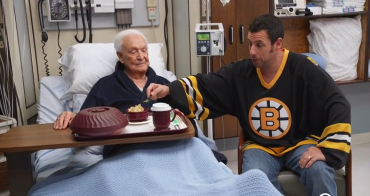 Adam Sandler and Bob Barker Continue Epic 'Happy Gilmore' Brawl