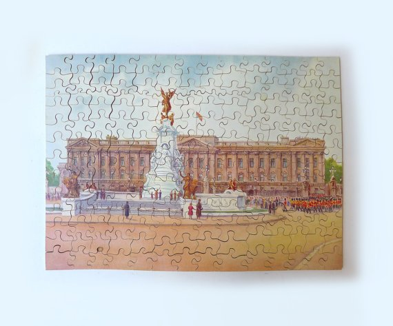 Antique Victory wood jigsaw puzzle of Buckingham by evaelena