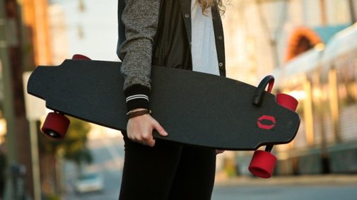 Monolith electric skateboard has motors in its wheels