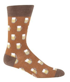 Men's Beer Mug Crew Socks in Brown by Sock it to Me - Whimsical & Unique Gift Ideas for the Coolest Gift Givers