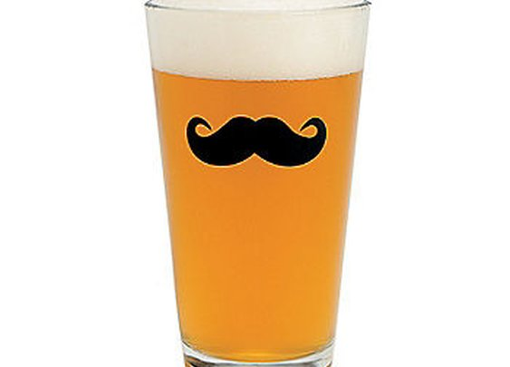 Mustache Pint Glasses - Oriental Trading