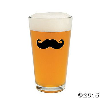 Mustache Pint Glasses - Oriental Trading