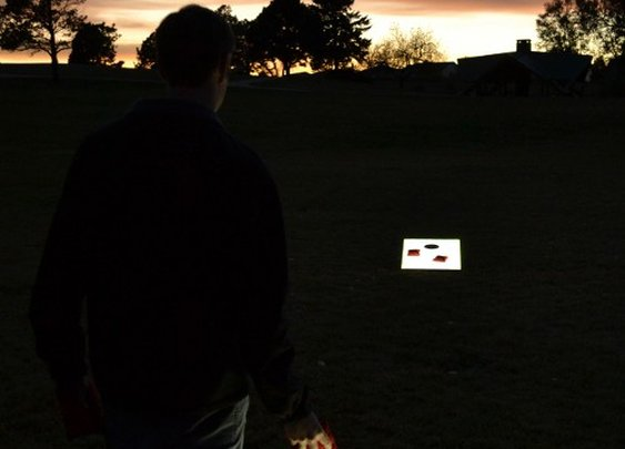 Light-Up LED Cornhole Boards