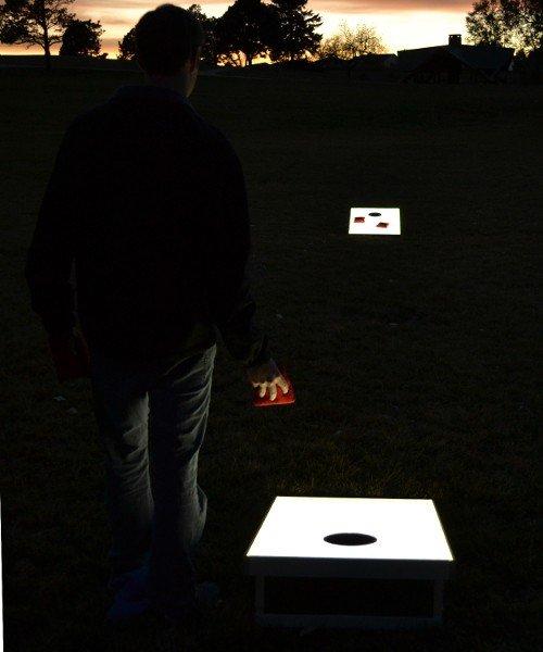 Light-Up LED Cornhole Boards