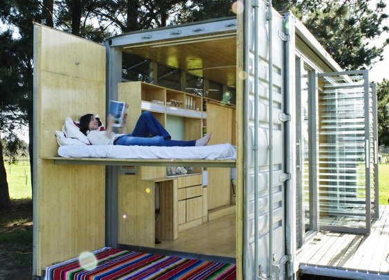 Outbuilding of the Week: A Shipping Container Transformed Into the Ultimate Holiday House