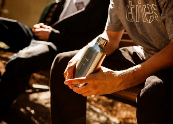 Fred Water Flask with More Water Less Sugar | BonjourLife