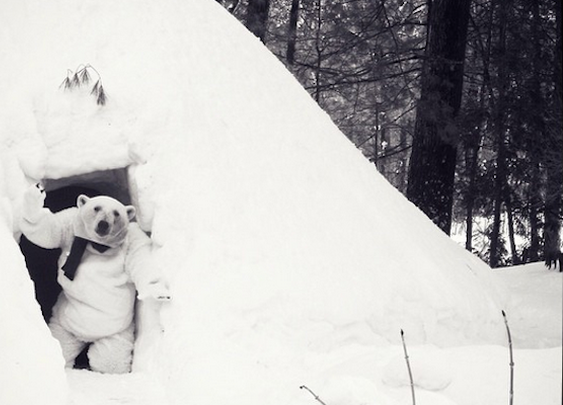 This genius built a bar in an igloo and made the endless winter awesome.   Igloo Party   Happy Place