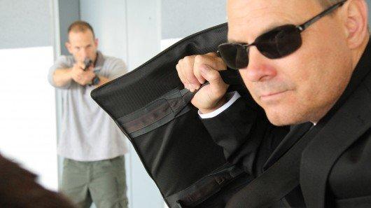 Bulletproof laptop bag can stop a .44 Magnum round