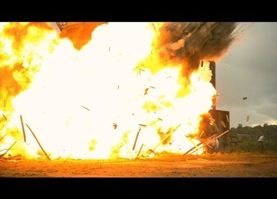 Huge Building Explosion at 2500fps - The Slow Mo Guys - YouTube