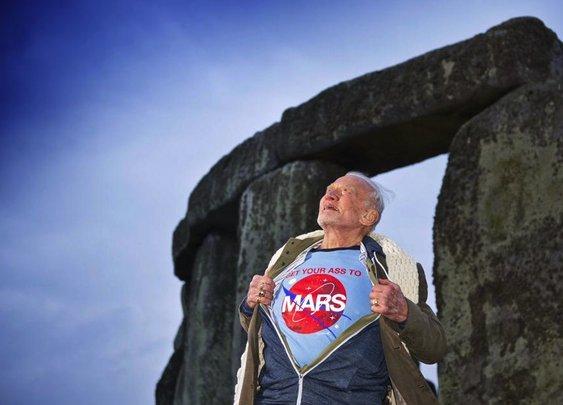 Buzz Aldrin at Stonehenge
