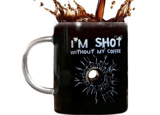 I'm Shot Without My Coffee Mug - Glass Mug