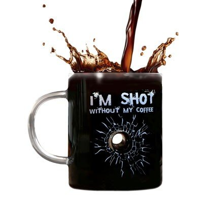 I'm Shot Without My Coffee Mug - Glass Mug