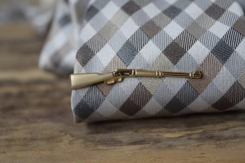Vintage Rifle Tie Bar Clip Foster Made in the USA by YournNonce