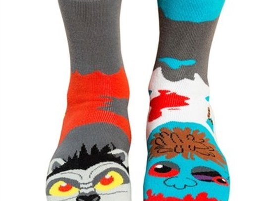 Men's Zombie vs. Werewolf Socks - Whimsical & Unique Gift Ideas for the Coolest Gift Givers