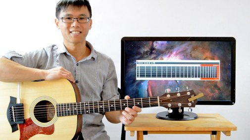 Tabophone - Guitar Pickup that Writes Tablature Automatically