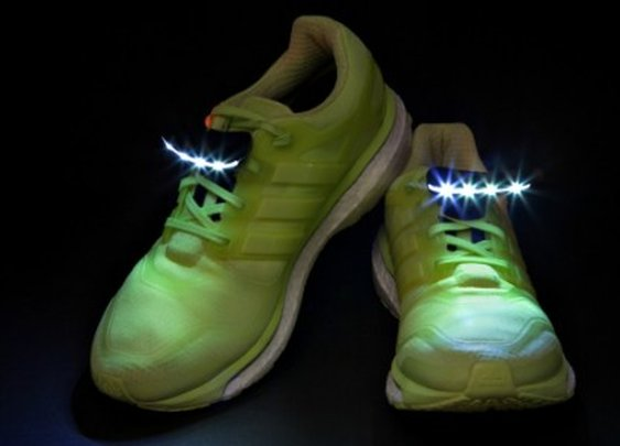 Night Runner Shoe Lights illuminate the path ahead