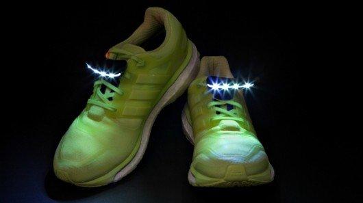 Night Runner Shoe Lights illuminate the path ahead