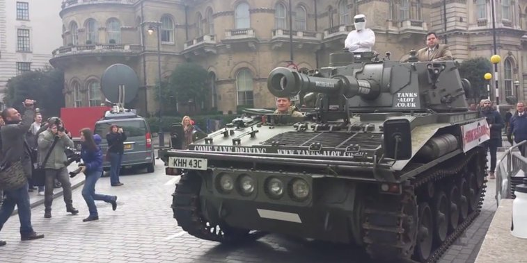 Tank delivers pro-Clarkson petition to BBC