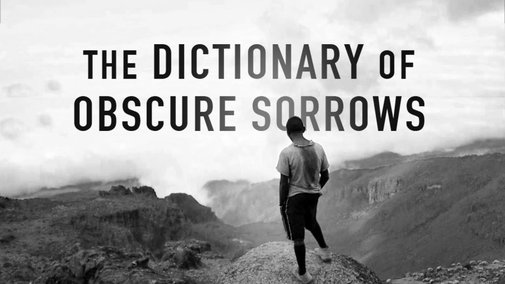 The Dictionary of Obscure Sorrows: For Lack Of A Better World - YouTube