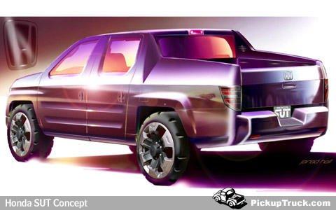 2004 Honda SUT Concept Sketch | PickupTruck.Com