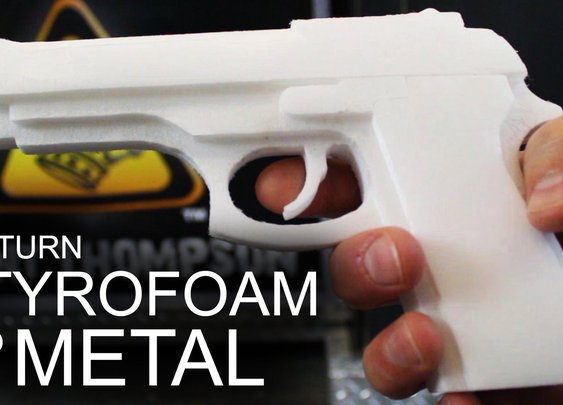 How To Turn Styrofoam, Into Solid Aluminum - YouTube