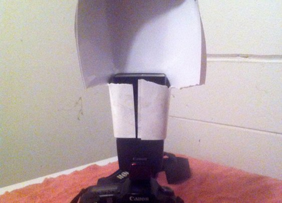 DIY External Flash Diffuser Created with Photo Paper