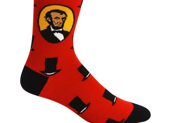 Sock it to Me Honest Abe Crew Socks - Abraham Lincoln Socks - Whimsical & Unique Gift Ideas for the Coolest Gift Givers