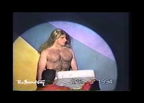 Steve Carell as Fabio in 1994 at The Second City - YouTube