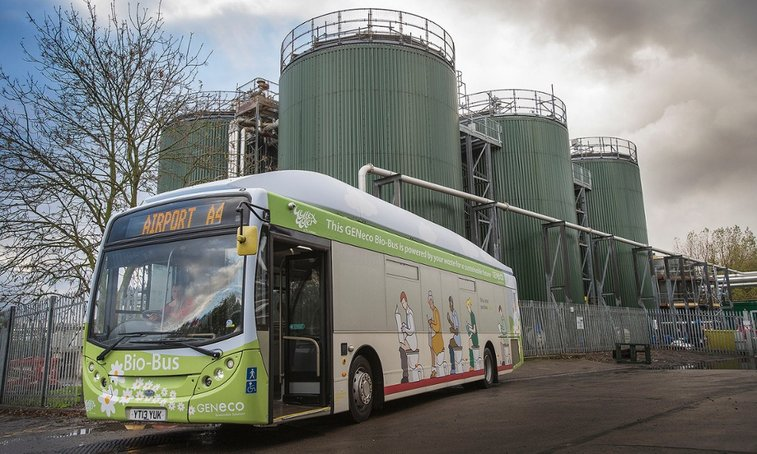 UK's first 'poo bus' hits the road | Environment | The Guardian