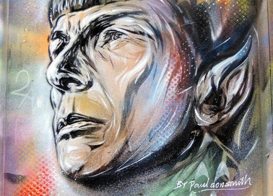 Urban Spock: 20 Fascinating Leonard Nimoy Graffiti Tributes