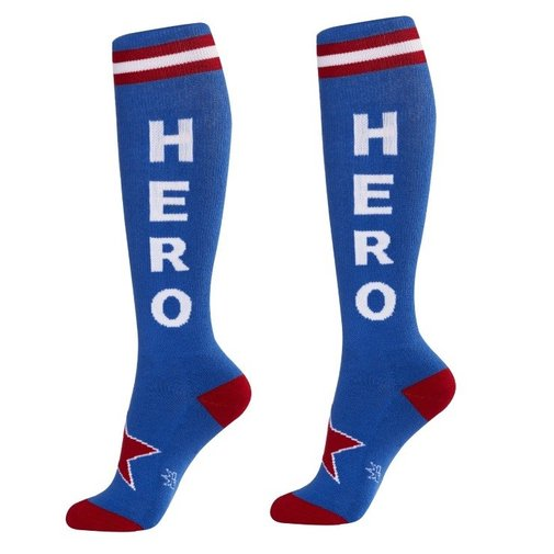 Hero Unisex Athletic Socks - Captain America Superhero - Whimsical & Unique Gift Ideas for the Coolest Gift Givers
