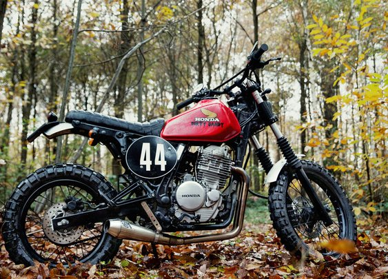 4h10's custom Honda dual sport | Bike EXIF
