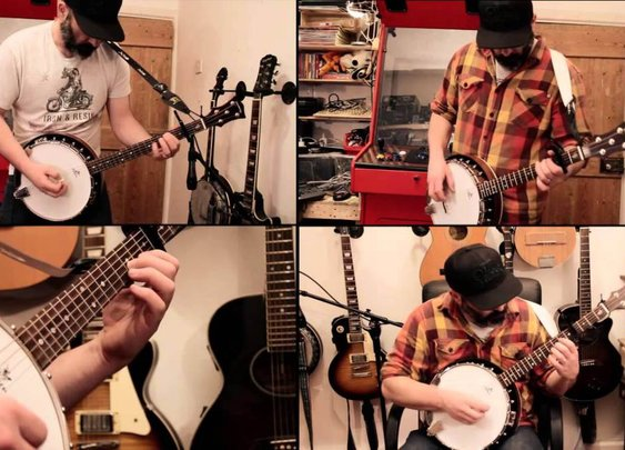 Banjo Guy Ollie Performs a Multitrack Cover of Metallica's Heavy Metal Song 'Enter Sandman'