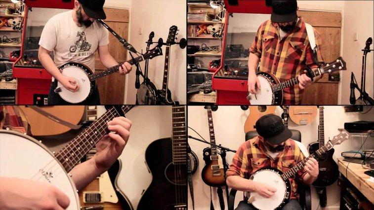 Banjo Guy Ollie Performs a Multitrack Cover of Metallica's Heavy Metal Song 'Enter Sandman'