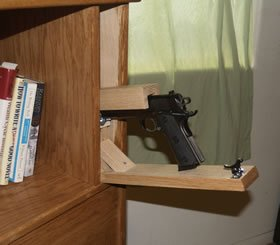 Quick draw, covert Gun storage