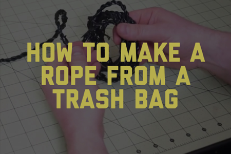 How to Make Rope from a Trash Bag [Video]