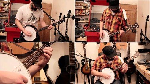 Metallica - Enter Sandman banjo cover - YouTube