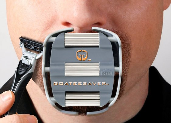 Goatee Saver | Shaving Stencil Gadget For Your Goatee