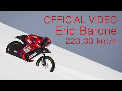 A Stuntman Hits 138.75 Miles Per Hour Riding a Mountain Bike Down the Snowy French Alps
