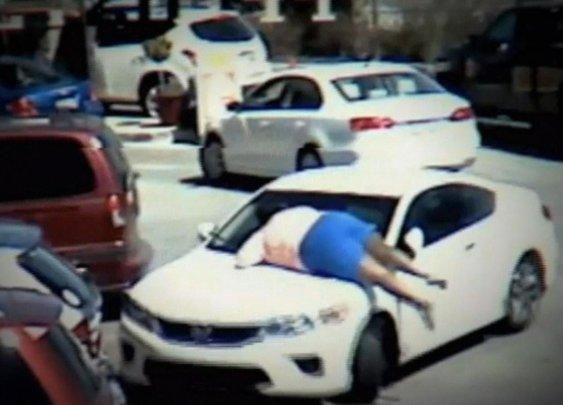 Viral video: Carjacking Caught on Tape: Hero Jumps on Hood