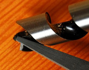 How to sharpen Auger Bits