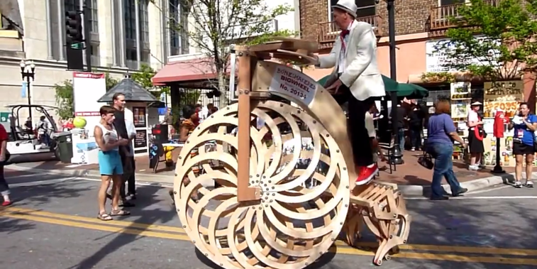This Weird Wooden Bike Has Back Legs That Walk