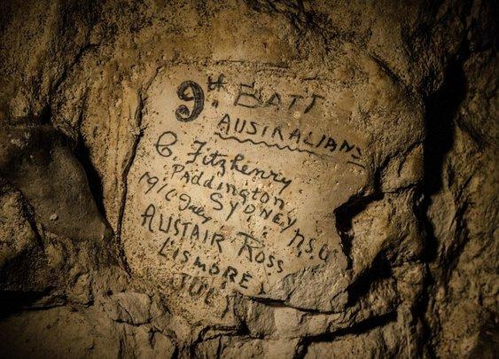 WWI Graffiti Discovered Deep Underground