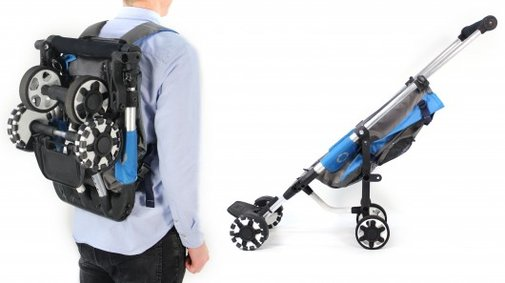 OmniO Rider stroller can be worn like a backpack