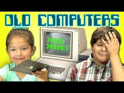 KIDS REACT TO OLD COMPUTERS - YouTube
