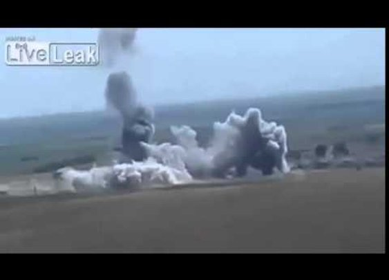 Moment ISIS suicide bomber is hurled into mid air during terrifying car explosion - YouTube