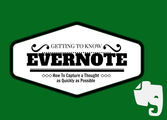 Getting To Know Evernote: How To Capture a Thought as Quickly as Possible