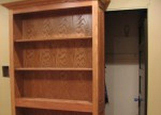 Rolling Secret Bookcase Door   StashVault