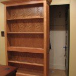 Rolling Secret Bookcase Door | StashVault